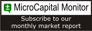 MicroCapital Monitor<br>Subscribe to our monthly market report