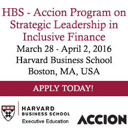 HBS Accion Program on Strategic Leadership in Inclusive Finance