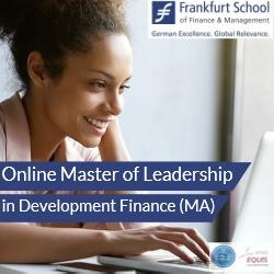 Frankfurt School Online Master of Leadership in Development Finance