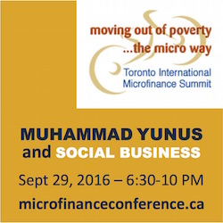 Yunus to Address Toronto International Microfinance Summit