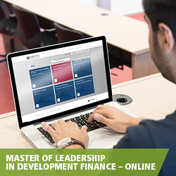 Master of Leadership in Development Finance